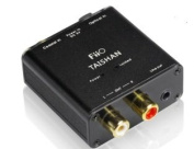 Digital to Analogue Audio Converter - 192kHz/24bit Optical and Coaxial DAC SPDIF - TOSlink / Coaxial to Stereo Left/Right RCA - FiiO D03K Taishan