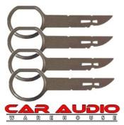 T1 Audio T1-132 x 4 Keys - VW / Ford / Audi / Mercedes Car Stereo Radio Removel Keys