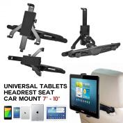 SAVFY® Universal Headrest Tablets Holder Mount Stands ,Car vehicle Seat Kits For Tablets 18cm - 25cm Black, Apple Ipad Mini , Apple Ipad 2 Ipad 3 Ipad 4 Ipad 5,Google Nexus 7, Nexus 10,Kindle Fire HD, Kindle Fire HDX, Galaxy Tab 2, Galaxy Tab 3 Tablet ..