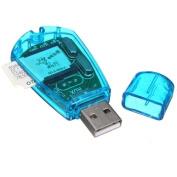 USB Cellphone Standard SIM Card Reader Copy Cloner Writer SMS Backup GSM/CDMA+CD FamilyMall