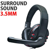 DH-878 Surround Sound Stereo PC Gaming Headset & Microphone 3.5mm Jack