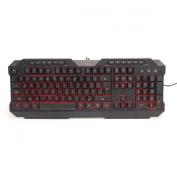 Powercool KB-768 V2 LED USB Gaming Keyboard Green/Red/Blue Backlit M/M Functions