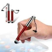 impexo Red Capacitive Resistive Touchscreen Stylus Pen Suitable For Apple Ipad / Ipad 2 3 3G Tablet PC