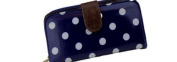 Miss Lulu Designer Oilcloth Owl Spot Polka Dots Butterfly Folded Zip Wallet Purse Bag
