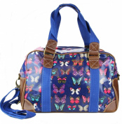 Stylish Owl Butterfly Floral Polka Dot Print Oilcloth Ladies Travel Bag Weekend Bag School Bag Hand Bag