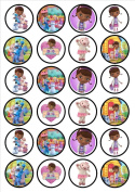 Doc Mcstuffins Edible Wafer Rice Paper 24 x 4.5cm Cupcake Toppers/Decorations