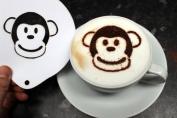 Monkey Coffee Stencil