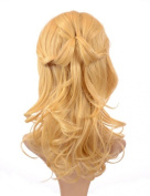 Hair By Miss Tresses Golden Blonde Plaited Hair Extensions Hairpiece Tihaira Braid Clip on Half Wig