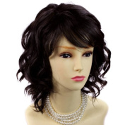 Awesome Lovely Summer Style Short Medium dark brown Skin Top Ladies Wig UK