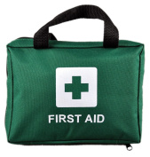 90 Piece Premium First Aid Kit Bag - Includes Eyewash, 2 x Cold (Ice) Packs and Emergency Blanket