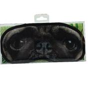 Novelty Eye Mask - 'Pug' Dog Sleep Joke Blindfold Practical Joke Gift