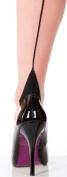 Silky Scarlet Seamer Stockings - Nude/Black M