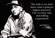 Eminem, Slim Shady (1) Signed Inspirational Motivational Quote Sign Poster Print Picture