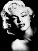 LARGE MARILYN MONROE CANVAS ART PRINT BLACK AND WHITE 80cm X 50cm READY TO HANG