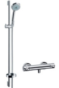 Hansgrohe Croma 100 Multi / Ecostat 1001 SL 27086000 Shower Combination Chrome-Plated with 65 cm Unica C Shower Pole
