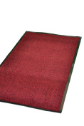 Extra Large Medium Small High Grade Top Quality Non Slip Door Mat Rubber Backed Runner Mats Rugs PVC 7mm thick Non Shedding Indoor / Outdoor Use 4 Colours 5 Sizes Made in EU AAA Grade & Quality Commercial Standard (Red, 120x180cm