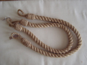 Jute Hessian Rope Tiebacks x Pair
