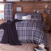 Catherine Lansfield kelso Single duvet set in Charcoal