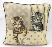 Cats Vintage Tapestry Cushion Covers 46cm x 46cm