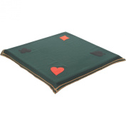 Bridge and Poker Tablecloth to Cover Card and Gaming Table 90cm Square Green Wool and Polyester Baize Cloth with Trump Symbols in each corner