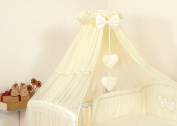 LUXURY BABY COT/BED CANOPY DRAPE-BIG 480cm HEARTS + HOLDER