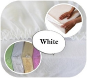Junior Cot Bed JERSEY Fitted Sheet 160x70cm 100% Cotton - WHITE