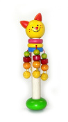 Hess Wooden Baby Toy Cat Rattle Stick