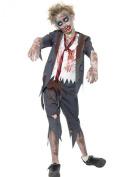Boys Childrens Zombie Schoolboy Halloween Fancy Dress Costume