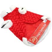 LUXURY PET DOG SANTA SUIT CHRISTMAS COAT OUTFIT COSTUME FANCY DRESS NOVEL GIFT