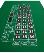 LIMITED EDITION ROULETTE FELT - VIVID COLOURS - THICK BAIZE LOW PRICED LAYOUT