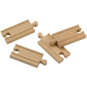 Wooden 9.6cm Straight Train Tracks; wooden railway compatible