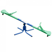 HLC Metal Seesaw Junior Kids Active Seesaw Outdoor Green/Blue 360 Degrees Rotating & safe