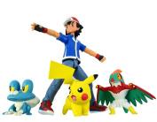 Takara Tomy Pokemon Monster Collection Ash Ketchum & Pokemon Set Battle Scene