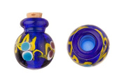 Aryballos Blue Perfume Bottle Lampworked Glass Pendant