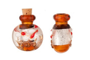 Lebes Blown Perfume Bottle Lampworked Glass Pendant