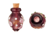 Tapered Purple Perfume Bottle Lampworked Glass Pendant