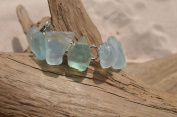 Gorgeous Aqua and Sea Foam Sea Glass Bracelet
