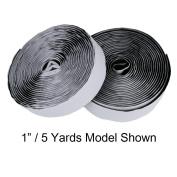 Velcro Industrial Strength Sticky-Back Hook & Loop Fasteners, Black, 2.5cm x 1.8m (2 yards) Straps Roll