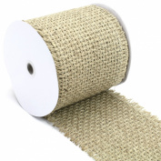 Kel-Toy Woven Jute Burlap Ribbon with Fringed Edge 15cm by 25cm , Large, Natural