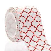 3.8cm Red Quatrefoil Grosgrain Ribbon