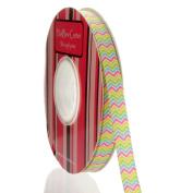 1cm Multi Stripe Chevron ZigZag Grosgrain Ribbon
