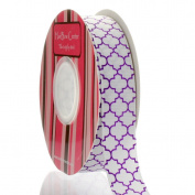 2.2cm Ultra Violet Quatrefoil Grosgrain Ribbon