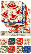 Paper Pack (24sh 15cm x 15cm ) Christmas Fairy FLONZ Vintage Paper for Scrapbooking and Craft