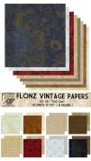 Paper Pack (18sh 25cm x 25cm ) Old Oak FLONZ Vintage Paper for Scrapbooking and Craft