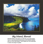 Big Island, Hawaii, Landscapes and Seascapes Counted Cross Stitch Pattern