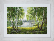 Luca Native Birches in the Light Counted Cross-Stitch Kit