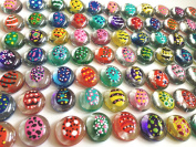 Jazzy Glass Gems, Hand Painted Set of 24, Party Supplies, Party Favour, Decoration, Crafts - Easter Eggs