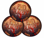 Three End Slavery 7.6cm . Vinyl UV Protected Stickers