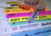 100 Premium Printed Tyvek Wristbands - Any Colour