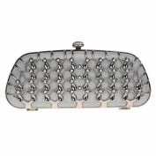 Fawziya Metal Plaid Women Fashion Baguette Clutch Bag